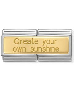 Nomination CLASSIC Gold Double Create Own Sunshine Charm 030710/21