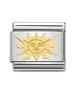 Nomination CLASSIC Gold Cosmo Relief Sun Charm 030161/09