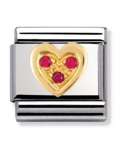 Nomination CLASSIC Gold Love Red Love Heart Charm 030311/12