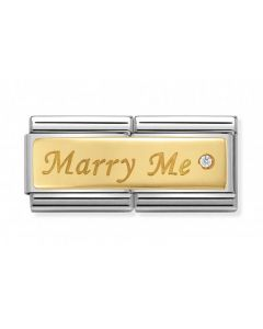 Nomination CLASSIC Gold Double Engraved Marry Me Charm 030730/01