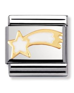Nomination CLASSIC Gold Christmas White Shooting Star Charm 030225/02