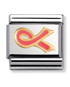 Nomination CLASSIC Gold Daily Life Pink Cancer Ribbon Charm 030208/29