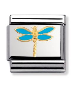 Nomination CLASSIC Gold Animals of the Air Dragonfly Charm 030211/19