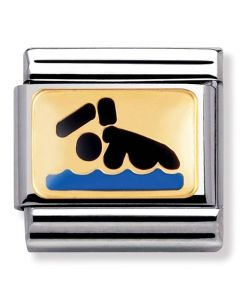 Nomination CLASSIC Gold Sports Swimmer Charm 030287/01
