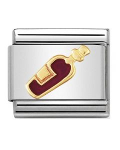 Nomination CLASSIC Gold Daily Life Red Wine Charm 030218/04