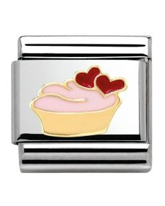 Nomination CLASSIC Gold Madame Monsieur Cupcake Charm 030285/02