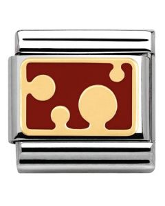Nomination CLASSIC Gold Pois Red Bubbles Charm 030284/05