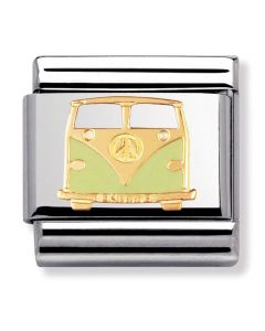 Nomination CLASSIC Gold Peace and Love Green Van Charm 030270/03
