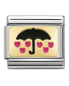 Nomination CLASSIC Gold Plates Umbrella With Hearts Charm 030284/17