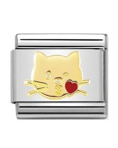 Nomination CLASSIC Gold Flying Kiss Cat Charm 030272/45