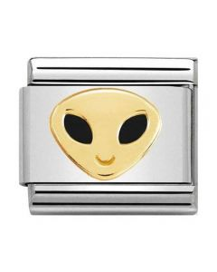 Nomination CLASSIC Gold Cosmo Alien Charm 030272/49
