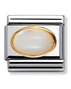 Nomination CLASSIC Gold Oval Stones Mother Of Pearl Charm 030502/12