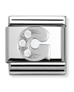 Nomination CLASSIC Silvershine Letter G Charm 330301/07