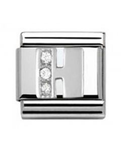 Nomination CLASSIC Silvershine Letter H Charm 330301/08