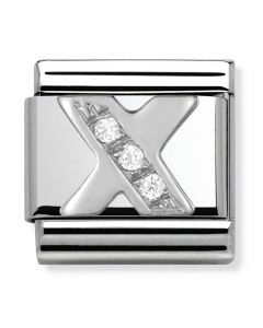 Nomination CLASSIC Silvershine Letter X Charm 330301/24