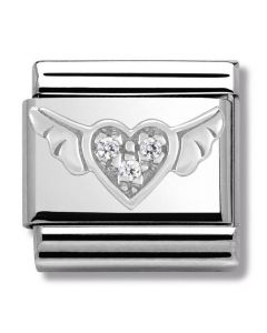 Nomination CLASSIC Silvershine Symbols Flying Heart Charm 330304/12