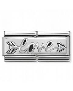 Nomination CLASSIC Silvershine Double Link Arrow of Love Charm 330730/02