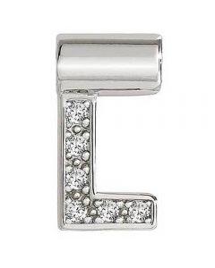 Nomination Seimia Silver Cubic Zirconia Letter L Charm 147115/012