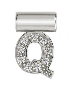 Nomination Seimia Silver Cubic Zirconia Letter Q Charm 147115/017