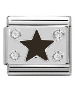 Nomination CLASSIC Silvershine Black Star Charm 330306/03