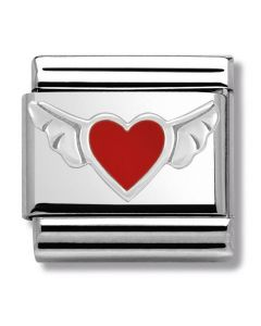 Nomination CLASSIC Silvershine Symbols Heart With Wings Charm 330202/01