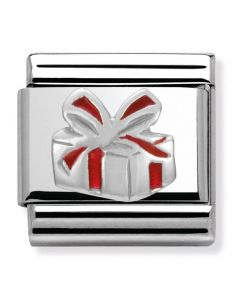 Nomination CLASSIC Silvershine Christmas Red Present Charm 330204/06