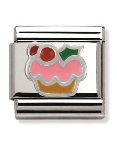 Nomination CLASSIC Silvershine Christmas Cake Charm 330204/10