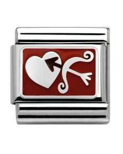 Nomination CLASSIC Silvershine Plates Bow and Arrow Charm 330208/05