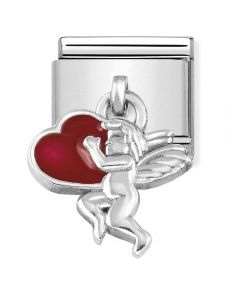 Nomination CLASSIC Silvershine Cupid With Red Heart Drop Charm 331805/08