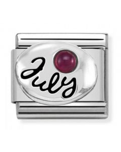 Nomination CLASSIC Silvershine Symbols July Ruby Birthstone Charm 330505/07