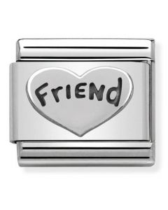 Nomination CLASSIC Silvershine Friend Heart Charm 330101/18