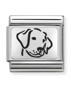 Nomination CLASSIC Silvershine Oxidised Plates Dog Charm 330109/06