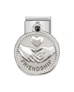 Nomination CLASSIC Silvershine Wishes Friendship Charm 331804/04