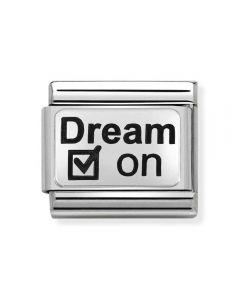 Nomination CLASSIC Silvershine Oxi Plates Dream On Charm 330109/26