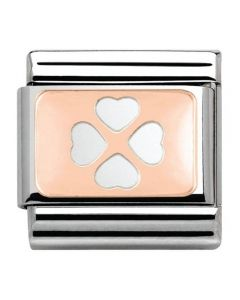 Nomination CLASSIC Rose Gold Four Leaf Clover Charm 430101/10