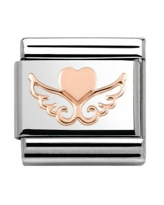 Nomination CLASSIC Rose Gold Symbols Heart With Wings Charm 430104/01