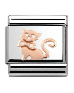 Nomination CLASSIC Rose Gold Plates Cat Charm 430104/11