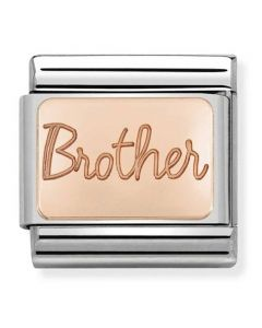 Nomination CLASSIC Rose Gold Plates Brother Charm 430101/37