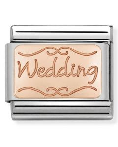 Nomination CLASSIC Rose Gold Plates Wedding Charm 430101/40
