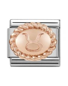 Nomination CLASSIC Rose Gold Oval Zodiac Taurus Charm 430109/02