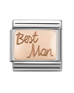 Nomination CLASSIC Rose Gold Engraved Best Man Charm 430108/02