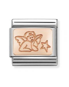 Nomination CLASSIC Rose Gold Plates Angel Of Wishes Charm 430101/45