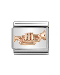 Nomination CLASSIC Rose Gold Trumpet Charm 430106/10