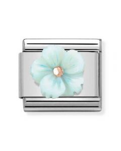 Nomination CLASSIC Rose Gold Symbols Turquoise Mother of Pearl Flower Charm 430510/04