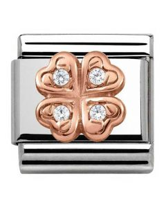 Nomination CLASSIC Rose Gold Symbols Four Leaf Clover Charm 430302/04