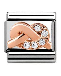 Nomination CLASSIC Rose Gold Symbols White Knot Charm 430302/06