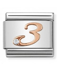Nomination CLASSIC Rose Gold Number 3 Charm 430315/03