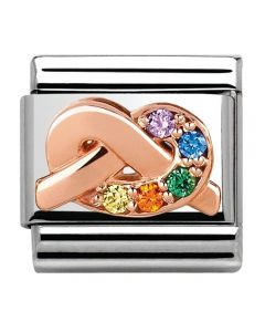Nomination CLASSIC Rose Gold Symbols Multicolour Knot Charm 430302/11
