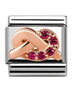 Nomination CLASSIC Rose Gold Symbols Red Knot Charm 430302/09