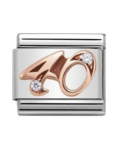 Nomination CLASSIC Rose Gold Numbers 40 Charm 430315/40